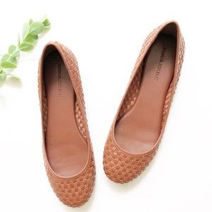 Banana Republic Leather Woven Flats
